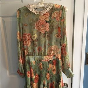 Rare Farm Rio Floral Dress